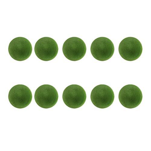 HEALLILY 10 Piezas Bola de Hierba Bolas de Musgo Mini Marimo Bola de Musgo Planta en Maceta Planta Verde Artificial Acuario Paisaje Exuberante Boda Decoración Del Hogar