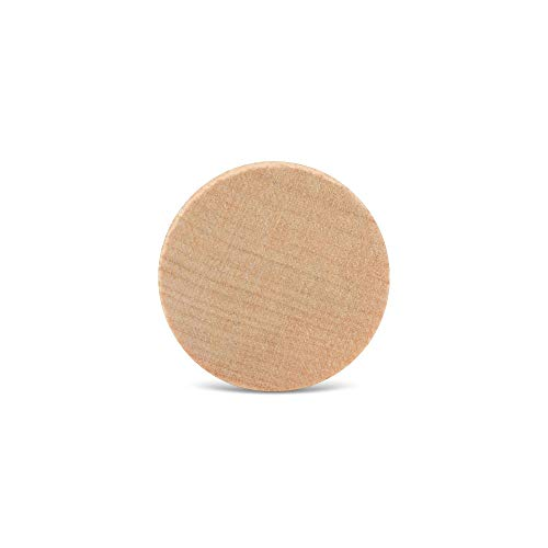 Wood Discs and Blank Tokens for Crafts, 1 x 1/8 inch Wooden Coins, Pack of 100 Unfinished Wood Circles, by Woodpeckers