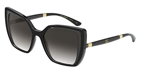 Dolce & Gabbana Gafas de Sol DG MONOGRAM DG 6138 Black Grey/Grey Shaded 55/18/145 mujer