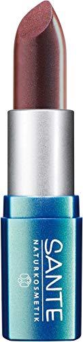 SANTE Naturkosmetik Lipstick No. 10 brown red, Lippenstift, Transparente bis intensive Farben, Zart pflegend & sanft schützend, 4,5g
