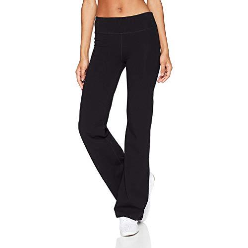 RISTHY Pantalones de Yoga Mujeres Pantalones Acampanados Tiro Regular Bootcut Campana Leggins Elegantes Push Up Slim Fit Pantalones Fitness Cintura Alta Deportivo