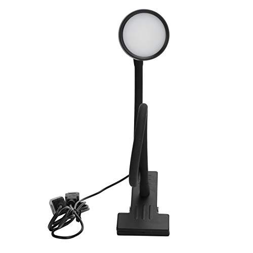 Asixxsix Lámpara de Clip, luz de Lectura USB Ajustable DC5V 5W de 24LED, para esteticistas entusiastas de la Lectura(B Black)