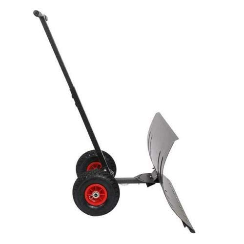 Great Features Of Snow Shovel New Wheels Easy Roller 29 Hand-Push Free Rolling Pusher Clean Safe Sn...