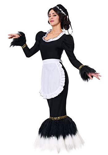 Women's French Feather Duster Costume Medium Black