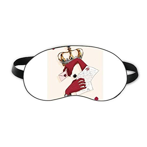 Spielkarten Herz K Muster Schlaf Augenmaske Nacht Augenbinde Schatten Abdeckung