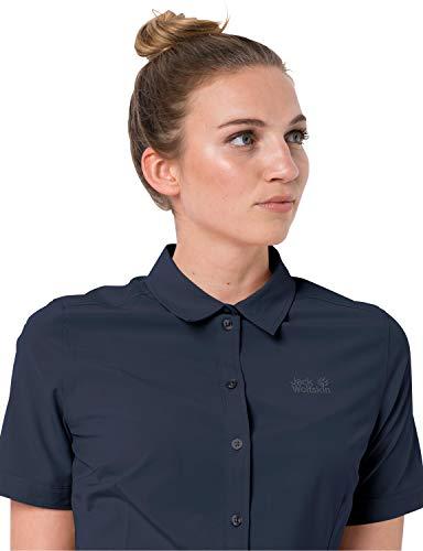 Jack Wolfskin Damen Bluse Sonora Shirt W, Midnight Blue, L, 1402382-1910004