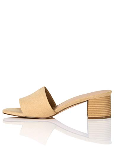 Sandalias con punta abierta Mujer Marca Large Buckle Block Heel Sandal find