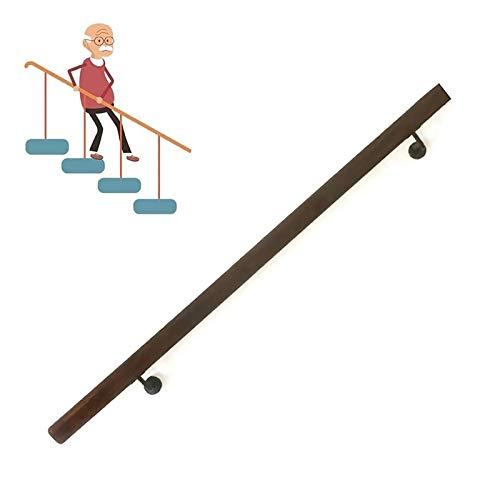 Pasamanos Riel de escalera de madera, kit completo de rieles de agarre de 30 cm a 600 cm, varilla de soporte de pasamanos de escalera antideslizante for pasillos, for ancianos y niños ( Size : 450cm )