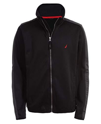 Nautica Boys' Little School Uniform Full-Zip Fleece Jacket, Beau Black, X-Large-7