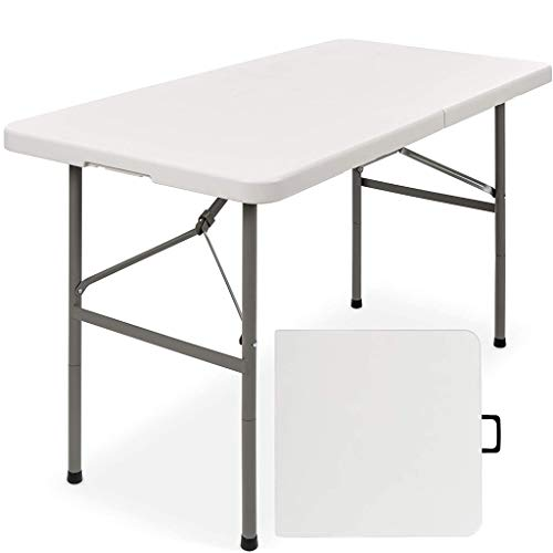 QILIN Mesa de picnic, para interiores y exteriores, portátil, plegable, de plástico, con asa, para picnic, fiesta, camping, mejor opción de productos, Folding table