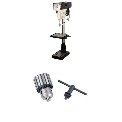 Purchase JET J-A3816 15-Inch Single Phase 6 Speed Floor Model Drill Press with TDC-750, Taper Mount ...