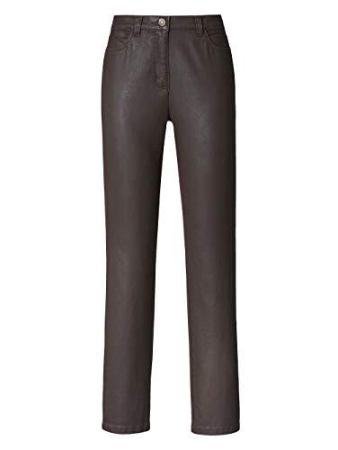 Toni Damen 5-Pocket-Hose Braun 42 Baumwolle