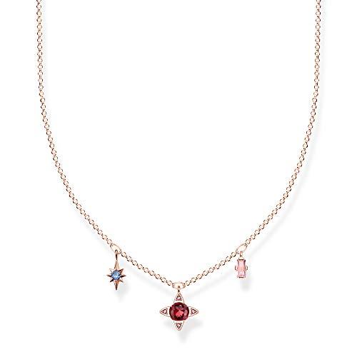 Thomas Sabo Damen-Kette Glückssymbole rosé 925 Sterlingsilber roségold vergoldet  KE1898-321-7-L40v
