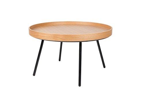 Zuiver Beistelltisch Oak Tray, MDF, braun, 78 x 78 x 45 cm