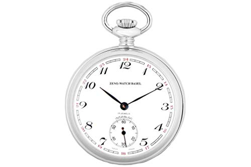 Zeno-Watch Lepine - Reloj de Pulsera para Hombre Números clásicos - 120-s2-num