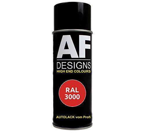 Alex Flittner Designs RAL Lackspray Autolack Sprühdose Spraydose RAL3000 FEUERROT glänzend