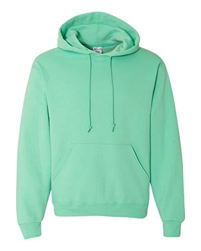 Jerzees Mens NuBlend Pull Over Hooded Sweatshirt, JZ996MR, M, Cool Mint