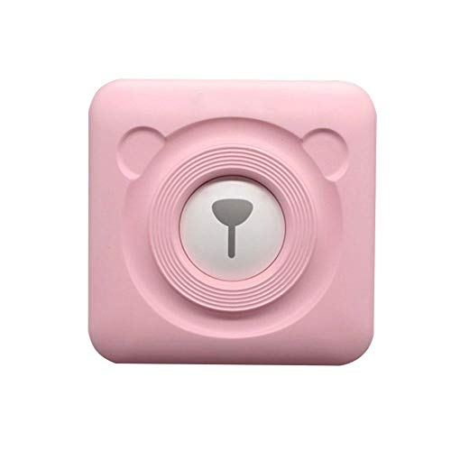 Calistouk Impresora térmica inalámbrica pequeña Bluetooth Impresora fotográfica móvil para teléfonos