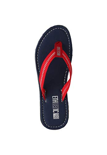 Ethletic Unisex Zehentrenner Fair Flip Classic Ocean Blue | Cranberry red 44 Fair | Vegan | Nachhaltig