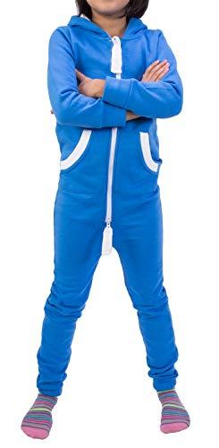 Rock Creek Kinder Jumpsuits Overall Jogger Onesie Jumpsuit Anzug Sportanzug Pyjama Fleecejumpsuit Jungen Mädchen D-385 Blau 98-104