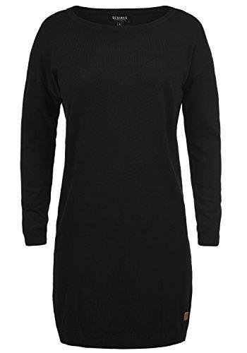 DESIRES Ella Damen Strickkleid Feinstrickkleid Kleid Mit Rundhals, Größe:XS, Farbe:Black (9000)