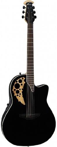 Ovation - Guitarra acústica E Elite T MID Cutaway Black 1778TX-5GSM