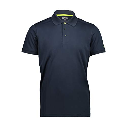 CMP Short-Sleeved Polo Shirt 3T60077 Homme, Blue Cosmo, 48