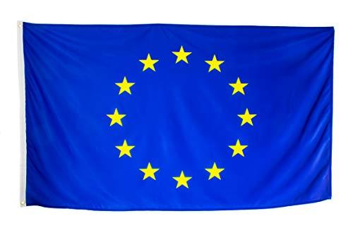 esvendio Bandera de Europa Grande de Tela Fuerte, Bandera Europea para Exterior 150x90 cm