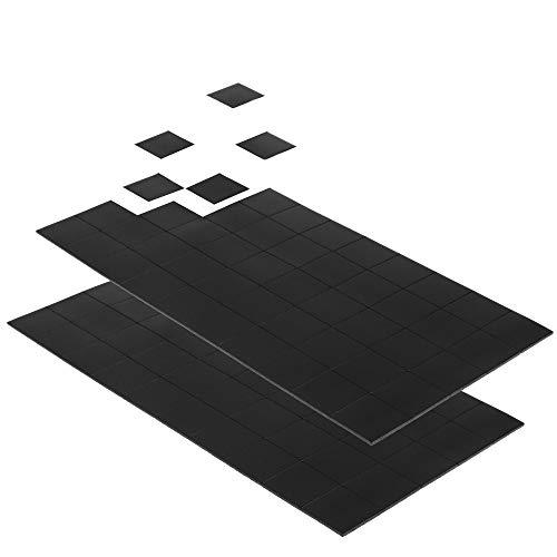 ECENCE 100x mini láminas magnéticas fuertes de 20x20mm autoadhesivas, para una sujeción sencilla de fotografías posters o notas