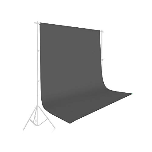UTEBIT Fotohintergrund Grau 1,5x2m / 5x7ft Hintergrund Fotografie Grau Backdrop Grey 100% Polyester Hintergrundstoff mit Stangentasche für Hintergrundstand Fotostudio Porträt Produkt