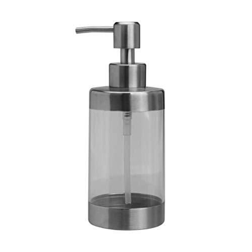 Dispensador de jabón Duradero 350 ml Dispensadores de jabón líquido Transparente Bomba Baño Ducha Botella de champú Dispensador de jabón para Platos en casa Recipiente Botella de l