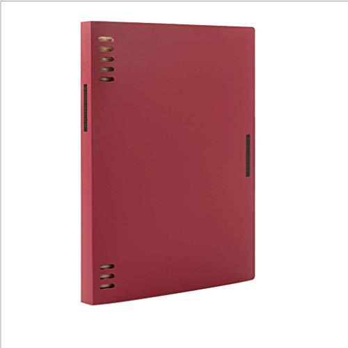 Linjolly Cuaderno Cuaderno Cuaderno A5 / B5, Diario de Papel de plástico Premium, para Empresas de la Escuela de Oficina, revistas de Tapa Dura Diario (Size : A5 Red)