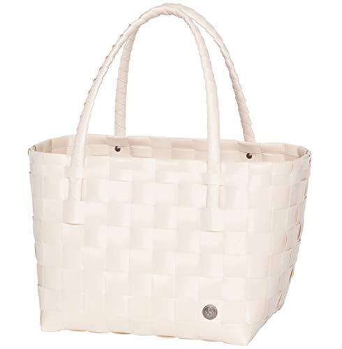Handed By Shopper Paris ecru white Tasche Korb geflochten Bag Öko Schulter