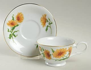 Product Name: Avon 1991 Blossoms of the Month Cup and Saucer Set: October - Calendula