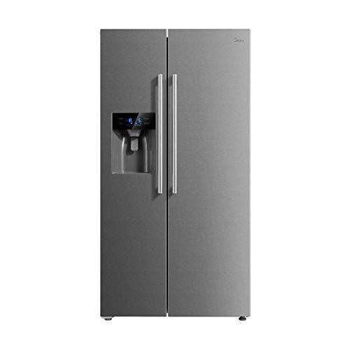 Midea KS 6.2 ice Side-by-Side Kühl-gefrierkombination/ A++/178,8 cm/322 kWh/Jahr/334 L Kühlteil/156 L Gefrierteil/No Frost/Inverter-Technologie/mit Wasser-/Eisspender