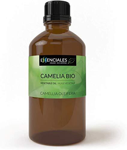 Essenciales - Huile végétale de Camélia (Canellia oleifera) BIO, 100 ml | 100% Pure et Naturel - Certifiée Biologique et Écologique
