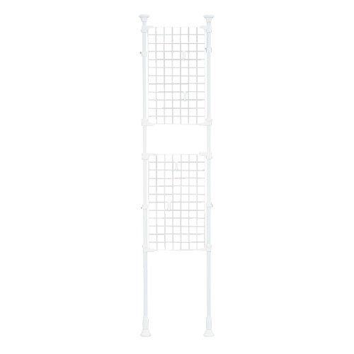 アイリスオーヤマ つっぱり棚 突っ張り棚 つっぱり棒 棚 伸縮棚 突っ張り パーテーション メッシュ 幅45×奥行7×高さ200~270cm ホワイト RP-420