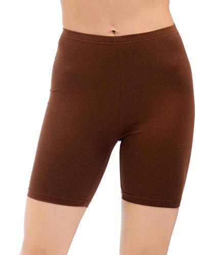 AUU Biker Shorts for Women Outwear Workout Shorts Light Brown(M)