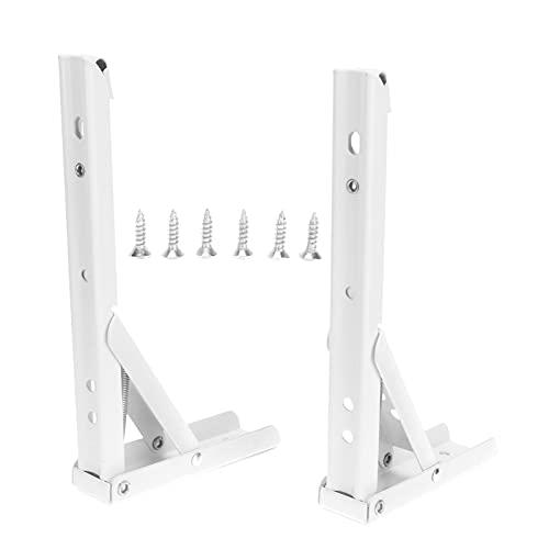 Soporte de resorte, soporte de estante plegable resistente al desgaste de alta dureza 2 piezas para el hogar para oficina