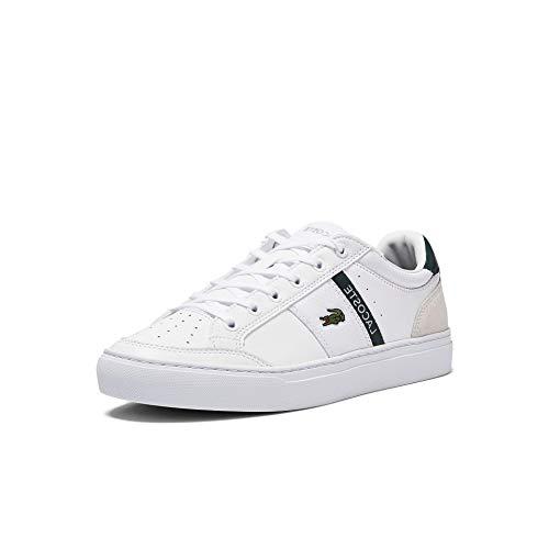 Lacoste Herren Courtline 0721 1 CMA Sneaker, Wht Dk Grn, 43 EU