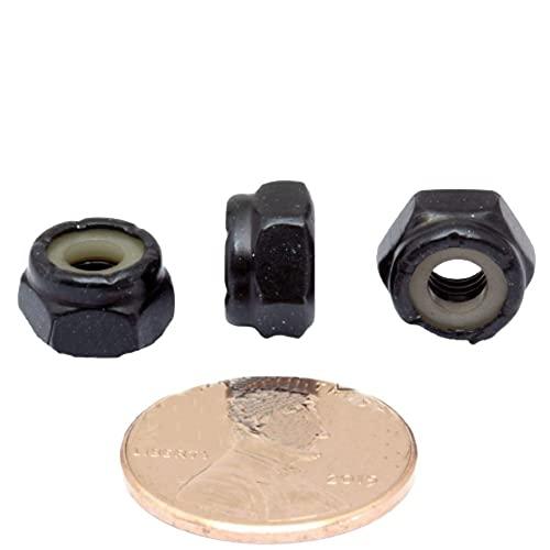 50 Pieces Insert Stop Nuts/Hex Lock Nylon, Steel w Black Oxide #10-32