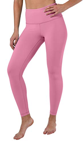 90 Degree By Reflex High Waist Squat Proof Ankle Length Interlink Leggings - Pink Ocean - Small