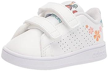 adidas Kids Advantage Tennis Shoe White/White/Pulse Aqua 9 US Unisex Toddler