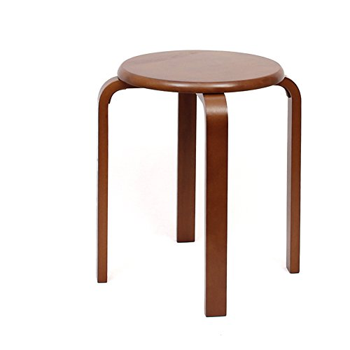 QFFL Tabouret en Bois Massif Tabouret Maison en Bois Table à Manger Chaise Banc 3 Couleurs en Option 4 chaises Tabouret d'extérieur (Couleur : B)