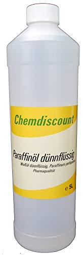1Liter (1000ml) Paraffinöl dünnflüssig, entspricht Ph.Eur, medizinisch, versandkostenfrei! Paraffinum Perliquidum, Pharmaqualität