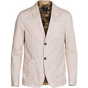 WOOLRICH Twill Club Blazer Giacca in Cotone Stretch Slim Fit Uomo Beige WOBLZ0215 (L, Beige)