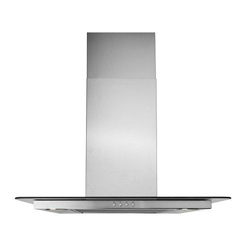 IKEA VINDIG - Wall campana extractora montada, acero inoxidable, vidrio - 60 cm: Amazon.es: Grandes electrodomésticos