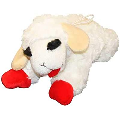"""Multipet Lambchop Plush Dog Toy 10"""" with Squeaker"""
