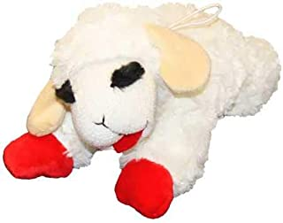 "Multipet Lambchop Plush Dog Toy 10"" with Squeaker"