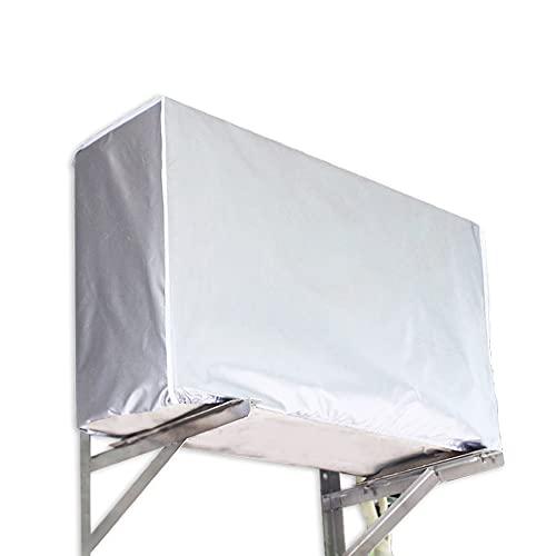Copertura del Condizionatore D'aria, Coperchio di Protezione del Condizionatore D'aria, Copertura per Condizionatore D'aria da Esterno, Anti-Polvere Anti-Neve da Esterno (L)